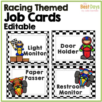 Racing Theme Job Chart