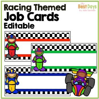 Racing Theme Name Plates