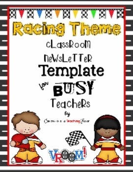 Racing Theme Newsletter Template for Busy Teachers