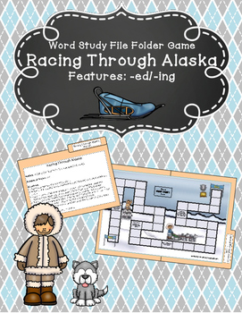 Racing Through Alaska Word Study File Folder Game (Adding -ing/-ed)