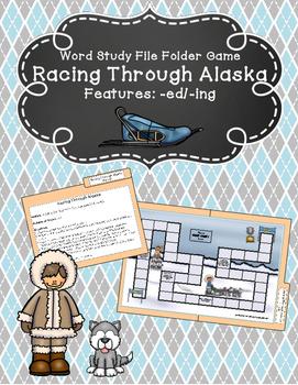 Racing Through Alaska Word Study File Folder Game (Adding -ing/-ed)