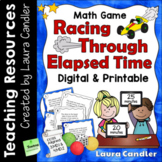 Elapsed Time Math Game with Word Problem Task Cards and QR Codes