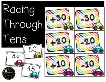 Racing Through Tens Adding and Subtracting 10 Game