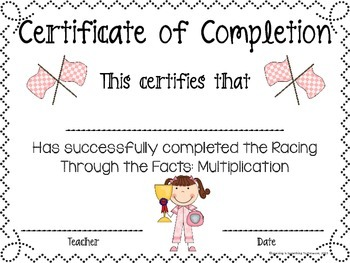 Racing Through The Facts: 1-12 Multiplication Drills