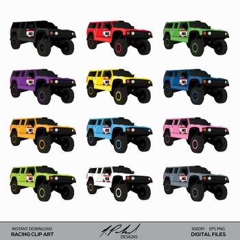 Racing Truck - Offroad Racing - Desert Racing - Rally Truck digital clip art