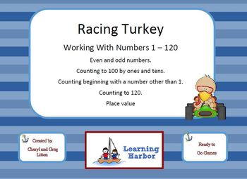 Racing Turkey Working With Numbers 1 - 120