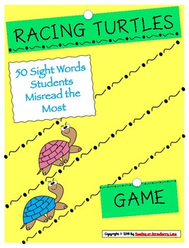 Racing Turtles [50 Most Misread Sight Words]