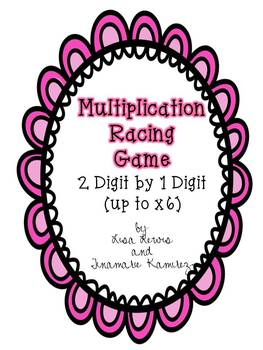 Multiplication Center Game ~ 2 Digit by 1 Digit {up to x6}
