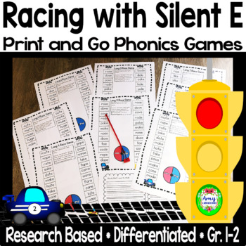 Racing With Silent E - Silent E game sheets for a,i,o,u