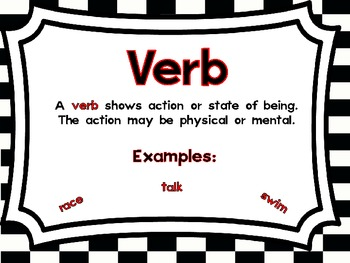 Racing With Verbs!  Action Verb Stations/Sorts and Worksheet