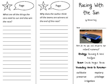 Racing With the Sun Trifold - 3rd Grade Literacy by Design Theme 15