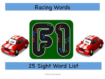 Racing Sight Words Game (25 word list)