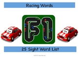 Racing Roll and Record Sight Words Game (25 word list)