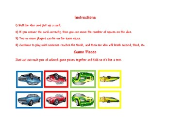 Racing World Board Game Template
