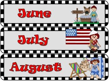 Racing cars calendar set