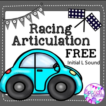 Car Racing for Articulation FREE Initial  L sound