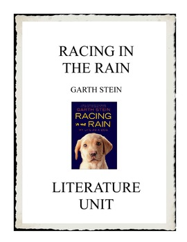 Racing in the Rain by Garth Stein Literature Unit