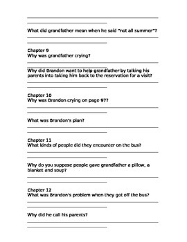 Racing the Sun by Paul Pitts (guided comprehension questions for the novel)