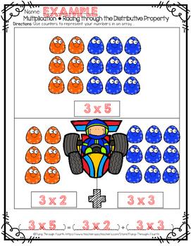 Racing through the Distributive Property of Multiplication