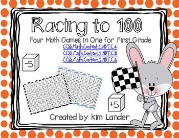Racing to 100- Racing to 0  Common Core Aliged