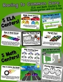 Racing to Common Core! 10 ELA & Math Race Car Centers for Kindergarten and 1st!