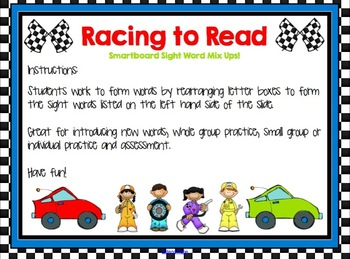 Racing to Read - Sight Word Mix Ups for Smartboard - 50 Word Pack