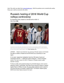 Racism and Russia's World Cup