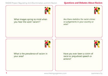 Racism-related debate questions