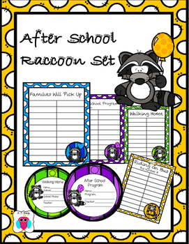 Raccoon After School Transportation Pack