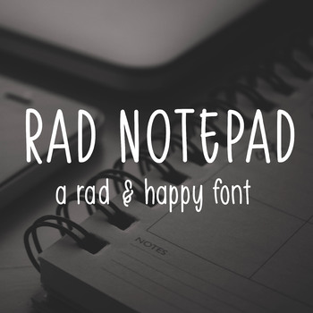 Rad Notepad Font