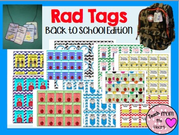 Rad Tags (Back to School Edition)