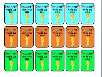 Brag Tags World Cup Edition (Classroom Management)