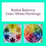 Radial Balance Color Wheel Painting