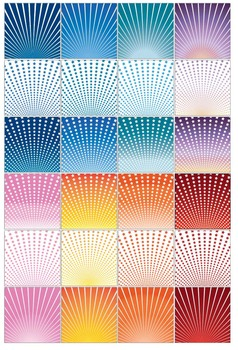 """Radial Stars & Stripes Pattern Sheets, 12 x 12"""", 20 Pages, PDF and PNG, 300 DPI"""