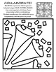 Radial Symmetry (2) COLLABORATIVE Activity Coloring Pages