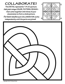 Radial Symmetry COLLABORATIVE Activity Coloring Pages