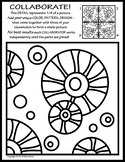 Radial Symmetry (3) COLLABORATIVE Activity Coloring Pages