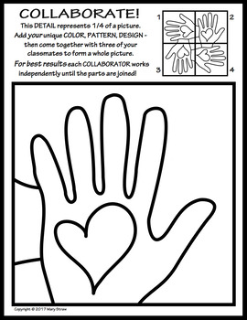 Radial Symmetry COLLABORATIVE KINDNESS Activity Coloring Page Kindnessnation