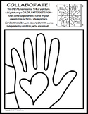 Radial Symmetry COLLABORATIVE KINDNESS Activity Coloring Page #kindnessnation