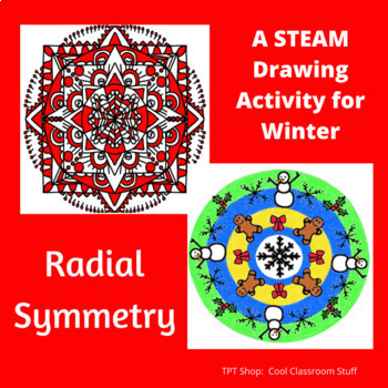 Radial Symmetry Drawing for Winter - STEAM/STEM Activity