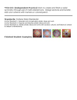 Radial Symmetry Lesson Plan