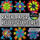 Radial Symmetry Paper Relief Project - Art and Math (Fractions and Symmetry)