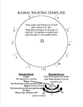 Radial Weaving Template