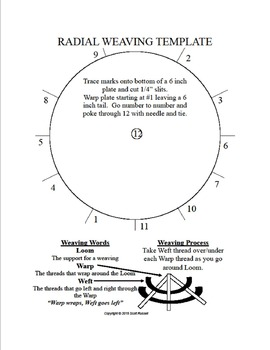Radial Weaving Template