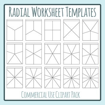 Radial Worksheet Templates Clip Art Set for Commercial Use