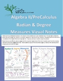 Radian & Degree Measures Doodle Notes