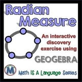 Radian Measure - interactive discovery exercise - Geogebra