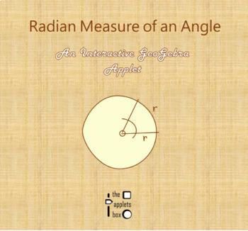 Radian Measure of an Angle - Math - Interactive GeoGebra Applet