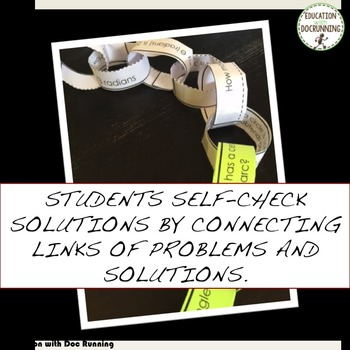 Trigonometry Radians Degrees and Arcs Paper Chain Activity RECENTLY UPDATED