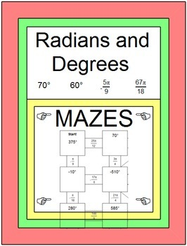 Radians and Degrees - 2 MAZES